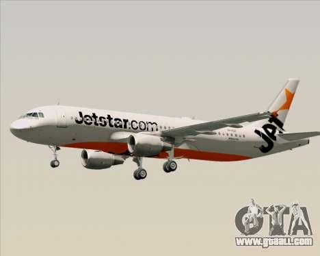 Airbus A320-200 Jetstar Airways for GTA San Andreas bottom view