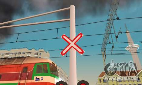 New textures for railway traffic for GTA San Andreas third screenshot