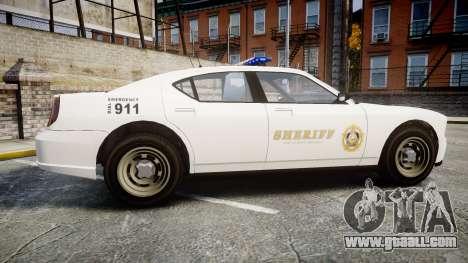 GTA V Bravado Police Buffalo [ELS] for GTA 4 left view
