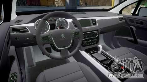 Peugeot 508 Republic of Srpska [ELS] for GTA 4 inner view