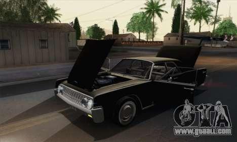 Lincoln Continental Sedan (53А) 1962 (HQLM) for GTA San Andreas back view