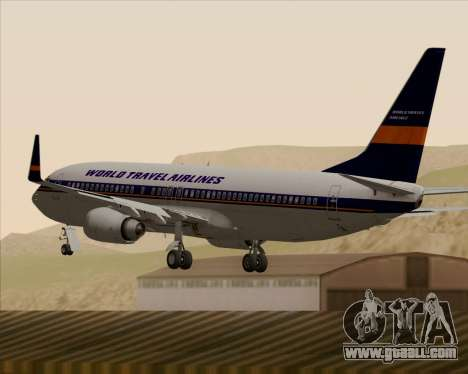 Boeing 737-800 World Travel Airlines (WTA) for GTA San Andreas bottom view