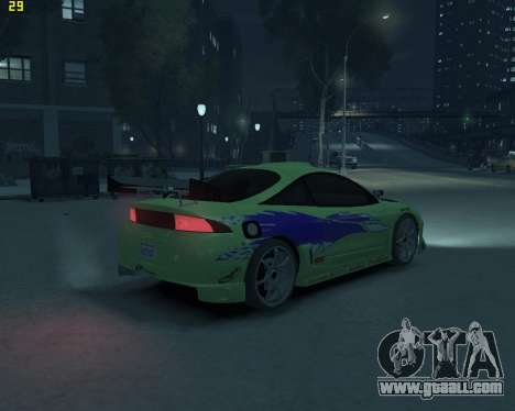 Mitsubishi Eclipse from Fast and Furious for GTA 4 back left view