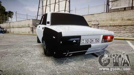 ВАЗ-2107 Avtosh Style for GTA 4 back left view