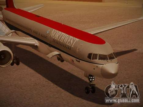 Boeing 757-251 Northwest Airlines for GTA San Andreas bottom view