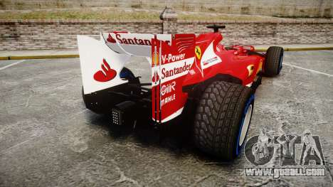 Ferrari F138 v2.0 [RIV] Alonso TFW for GTA 4 back left view