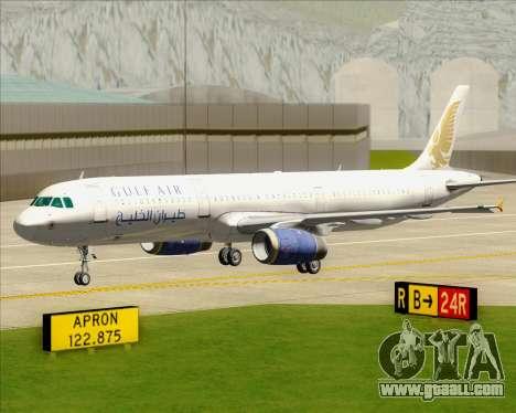 Airbus A321-200 Gulf Air for GTA San Andreas bottom view