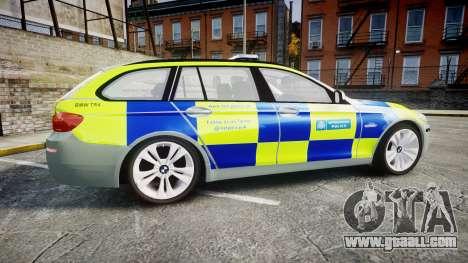 BMW 530d F11 Metropolitan Police [ELS] for GTA 4 left view