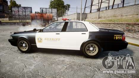 GTA V Vapid Cruiser LSS Black [ELS] for GTA 4 left view