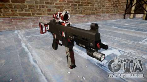 Gun UMP45 are bloodshot for GTA 4