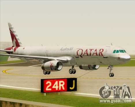 Airbus A321-200 Qatar Airways for GTA San Andreas bottom view