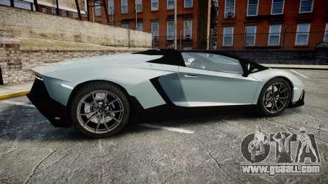 Lamborghini Aventador 50th Anniversary Roadster for GTA 4 left view