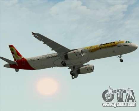 Airbus A321-200 Qantas (Wallabies Livery) for GTA San Andreas side view