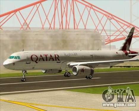 Airbus A321-200 Qatar Airways for GTA San Andreas inner view