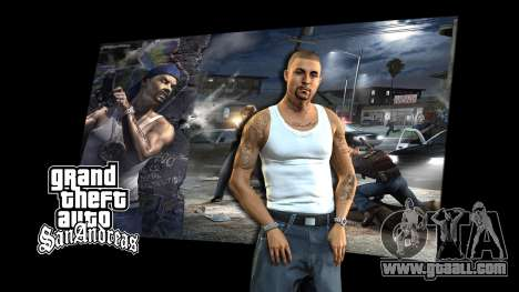 The loading screens for GTA San Andreas