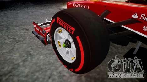 Ferrari F138 v2.0 [RIV] Massa TSSD for GTA 4 back view