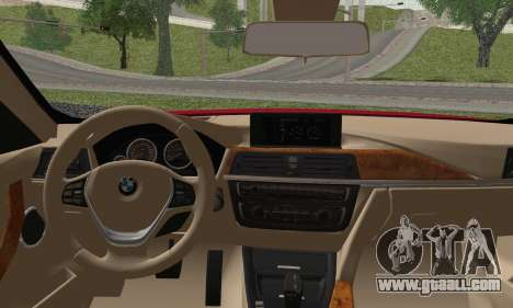 BMW 3 Series F30 2013 for GTA San Andreas back left view