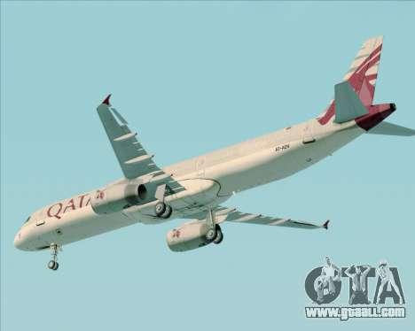 Airbus A321-200 Qatar Airways for GTA San Andreas upper view