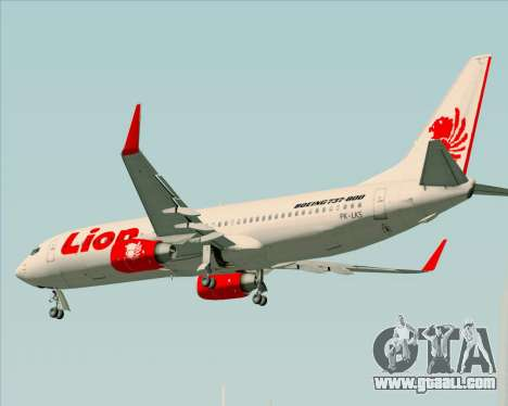 Boeing 737-800 Lion Air for GTA San Andreas bottom view