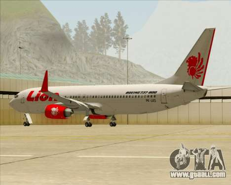 Boeing 737-800 Lion Air for GTA San Andreas wheels
