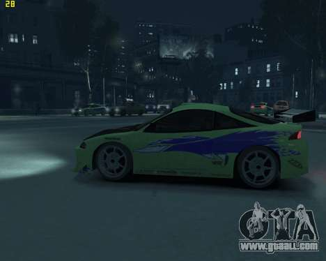 Mitsubishi Eclipse from Fast and Furious for GTA 4 left view