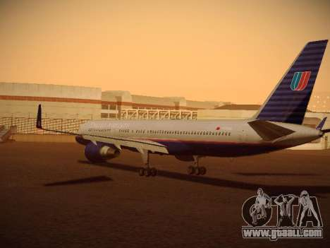 Boeing 757-224 United Airlines for GTA San Andreas back left view