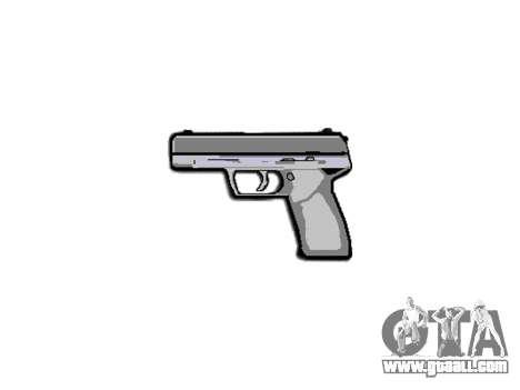 Pistol Taurus 24-7 titanium icon3 for GTA 4