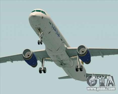 Airbus A321-200 Gulf Air for GTA San Andreas right view