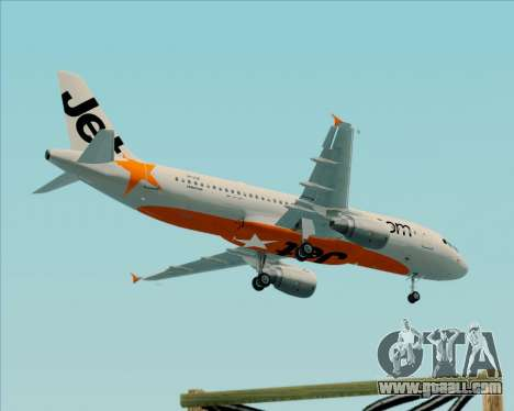 Airbus A320-200 Jetstar Airways for GTA San Andreas side view