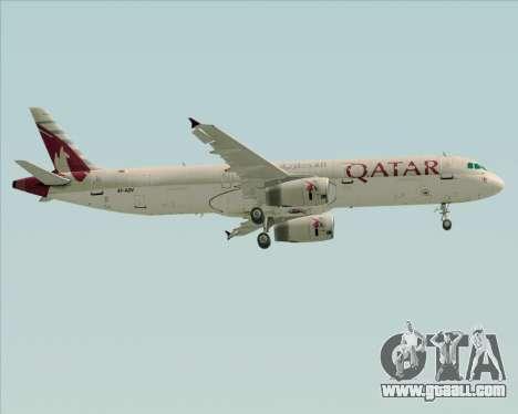 Airbus A321-200 Qatar Airways for GTA San Andreas wheels