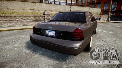 Ford Crown Victoria Unmarked Police [ELS] for GTA 4 back left view