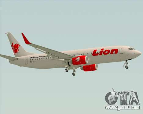 Boeing 737-800 Lion Air for GTA San Andreas side view
