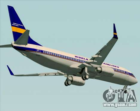 Boeing 737-800 World Travel Airlines (WTA) for GTA San Andreas inner view