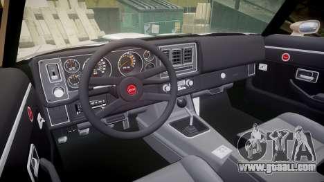 Chevrolet Camaro Z28 1979 for GTA 4 back view