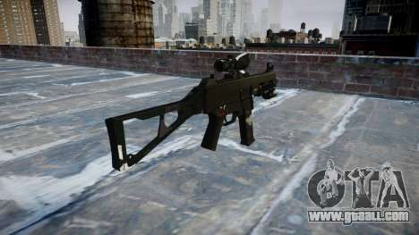 Gun UMP45 Ghosts for GTA 4 second screenshot