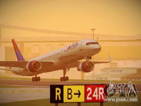 Boeing 757-232 Delta Airlines for GTA San Andreas left view