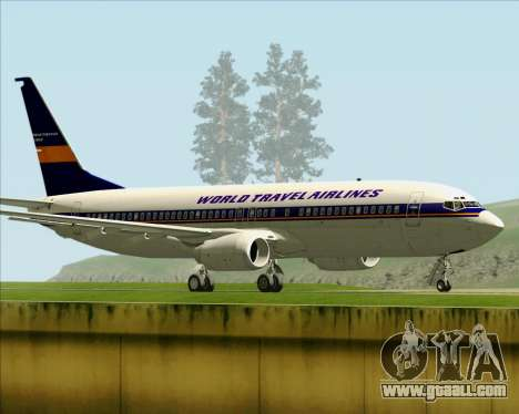 Boeing 737-800 World Travel Airlines (WTA) for GTA San Andreas right view