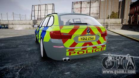 BMW 530d F11 Metropolitan Police [ELS] SEG for GTA 4 back left view