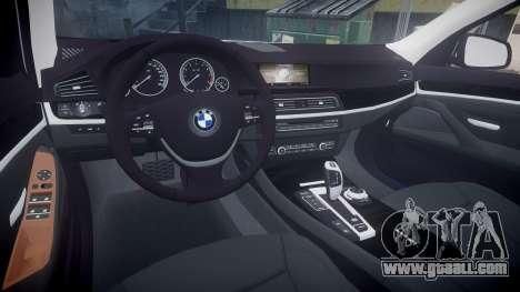 BMW 530d F11 Metropolitan Police [ELS] for GTA 4 inner view