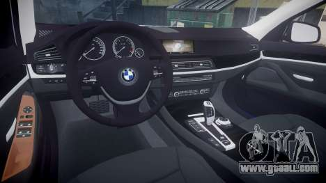 BMW 530d F11 Metropolitan Police [ELS] SEG for GTA 4 back view
