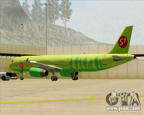 Airbus A321-200 S7 - Siberia Airlines for GTA San Andreas engine