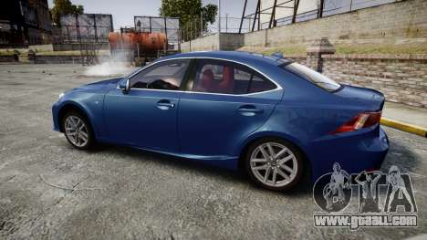 Lexus IS 350 F-Sport 2014 Rims1 for GTA 4 left view