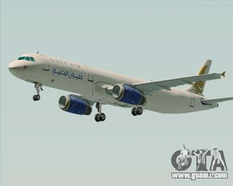 Airbus A321-200 Gulf Air for GTA San Andreas left view