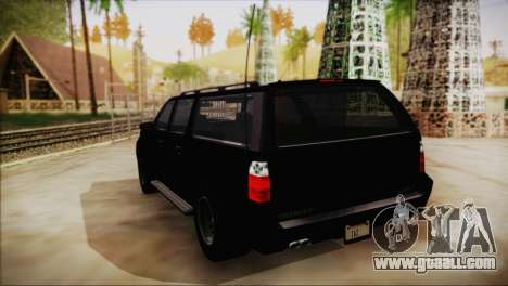 GTA 5 FIB Granger for GTA San Andreas left view