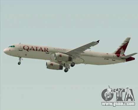 Airbus A321-200 Qatar Airways for GTA San Andreas side view