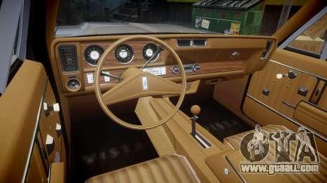Oldsmobile Vista Cruiser 1972 Rims2 Tree4 for GTA 4 back view