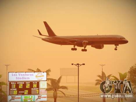 Boeing 757-224 United Airlines for GTA San Andreas back view
