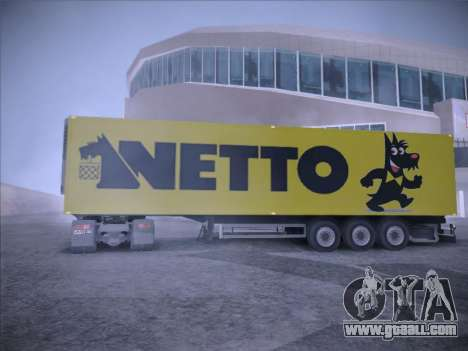 Trailer NETTO for GTA San Andreas back view