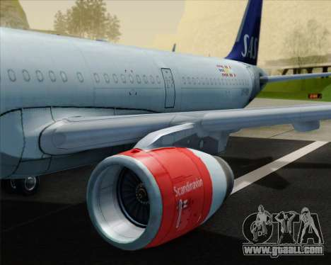 Airbus A321-200 Scandinavian Airlines System for GTA San Andreas engine