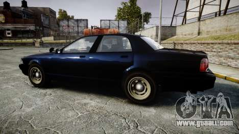 GTA V Vapid Cruiser Police Unmarked [ELS] Slick for GTA 4 left view